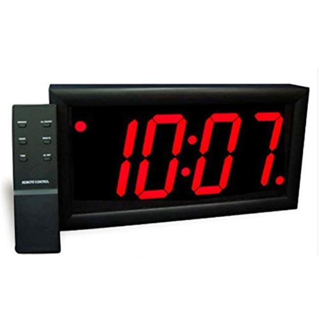 Max Group 113 4 inch Numeral Alarm With Remote, Snooze