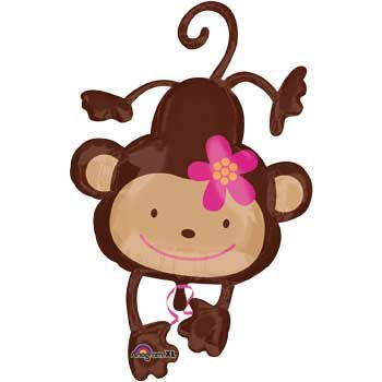 Floral Monkey Balloon Shape (each) - Party Supplies (Monkey Party Supplies)