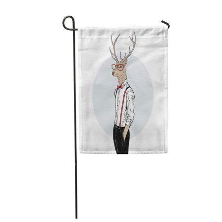 Tv Characters To Dress Up As (KDAGR Deer Man Dressed Up in Classy Style Merry Christmas Character Furry Garden Flag Decorative Flag House Banner 12x18)
