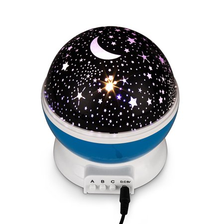 FeelGlad Night Lighting LampMoon Star Night Light Rotating Star Projector, Baby Night Light, Night Lighting Lamp 4 LED 3 Modes with USB Cable, Best for Bedroom (The Best Lcd Projector)