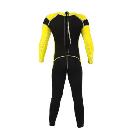 Flexible Kids Wetsuit (TOPINCN Kids Neoprene Scuba One-piece Diving Snorkeling Wet Suit Long Sleeve Surfing Swimwear, Long Sleeve Kids Wetsuit,One-piece Diving Suit )