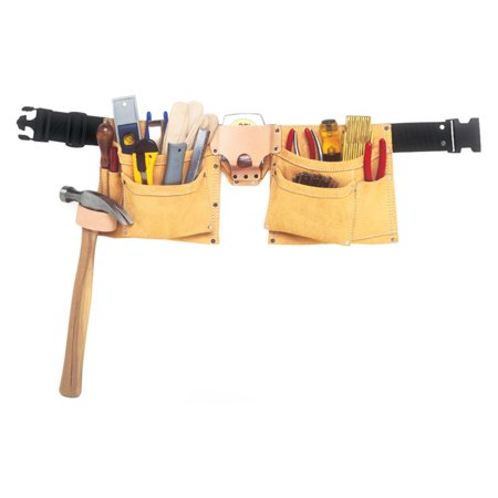 Custom Leathercraft I370X3 8-Pocket Suede Heavy-Duty Work Belt Apron