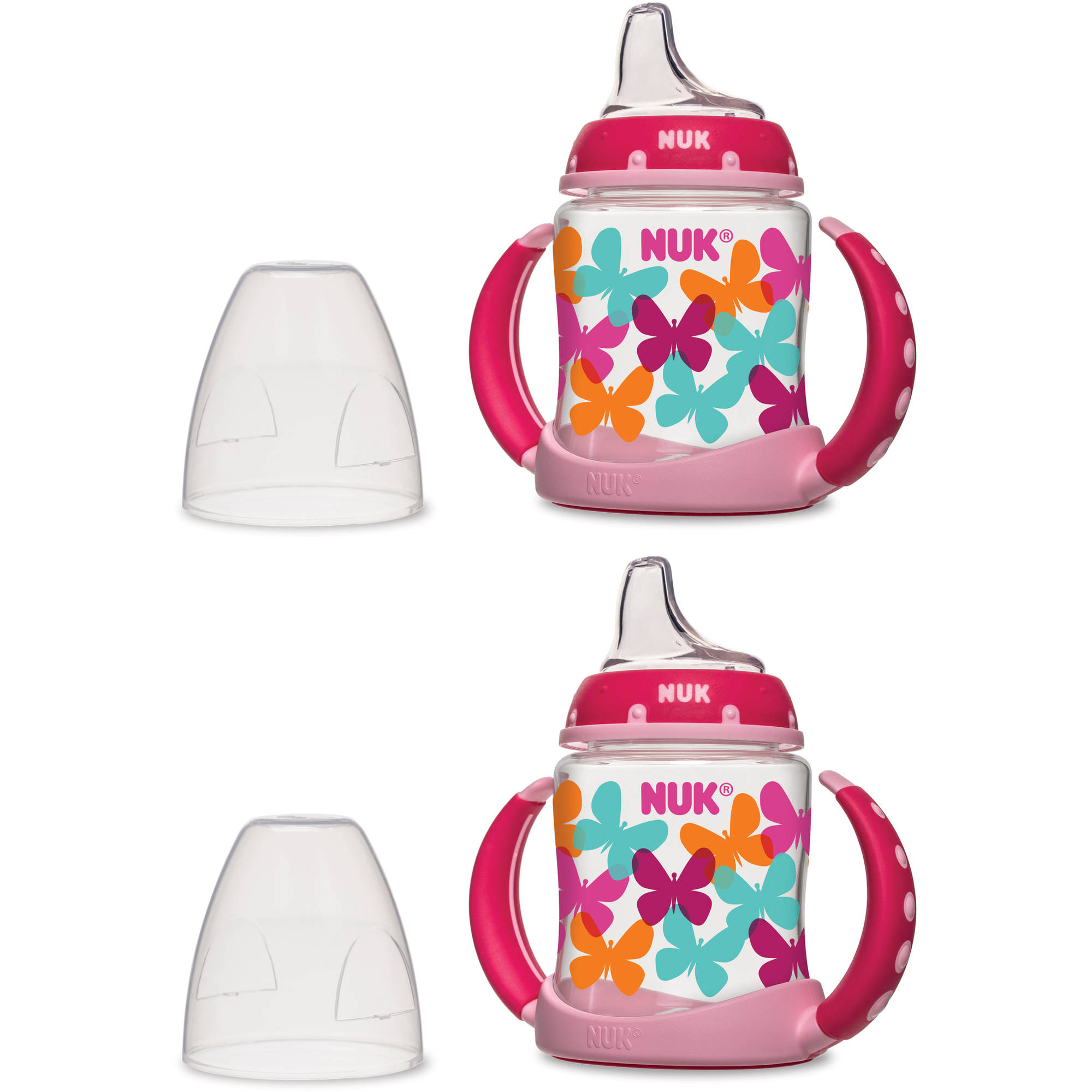 NUK 5-oz Learner Cup, Silicone Spout, Fashion Girl Designs, BPA-Free