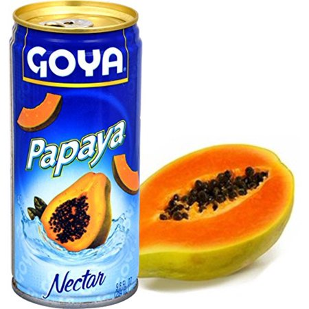 - Papaya juice by Goya. 9.6 oz