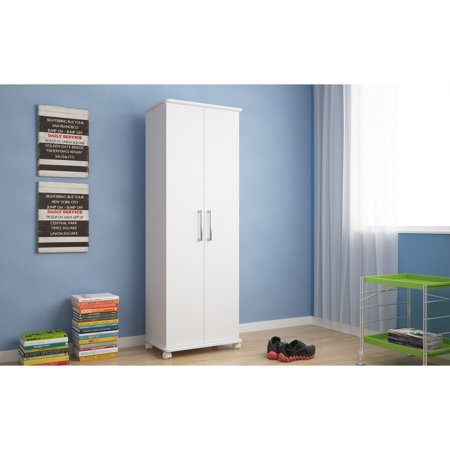 Catalonia Mobile Shoe Closet 1.0 with 10 shelves in White