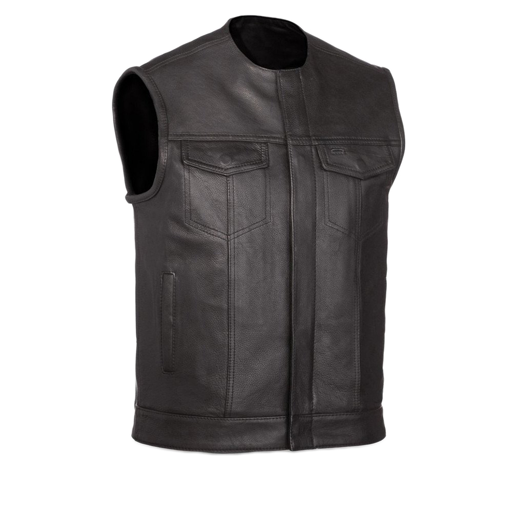 First Manufacturing Men's No Rival Motorcycle Vest Black 5X
