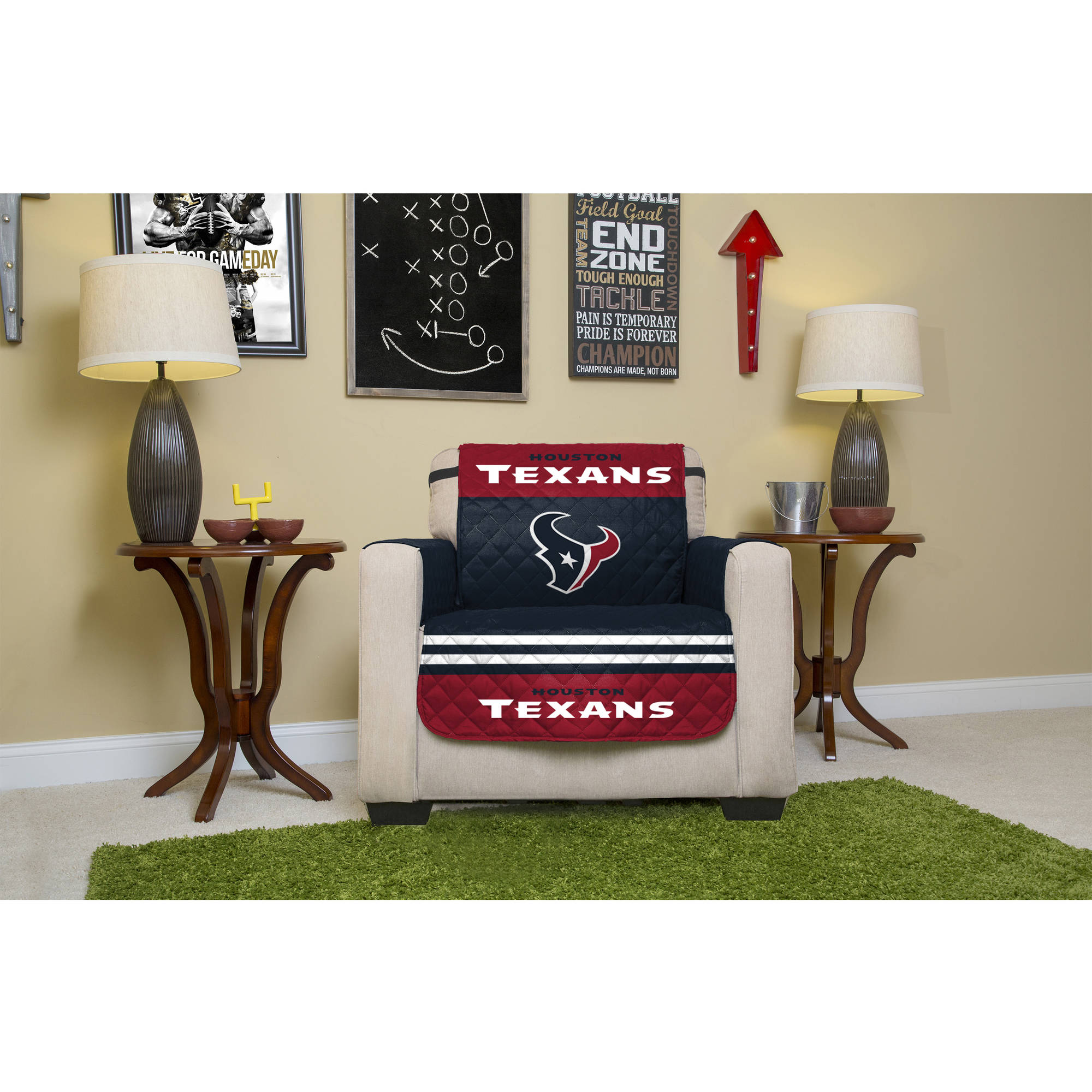 NFL Licensed Furniture Protector, Chair, Houston Texans