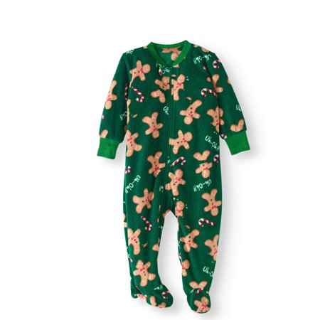 be3deebc0f80 Holiday - Family Pajamas Newborn Baby Unisex Gingerbread Man Footed ...