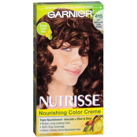 - Garnier Nutrisse Haircolor - 415 Raspberry Truffle (Soft Mahogany Dark Brown) 1 Each (Pack of 2)