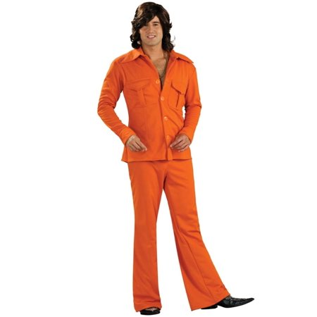 Adult Orange Leisure Suit Costume Rubies - Leisure Suit Costume