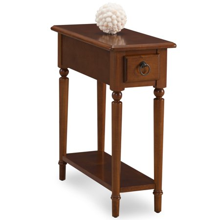 Leick home coastal narrow chairside table with shelf - Narrow side tables for living room ...
