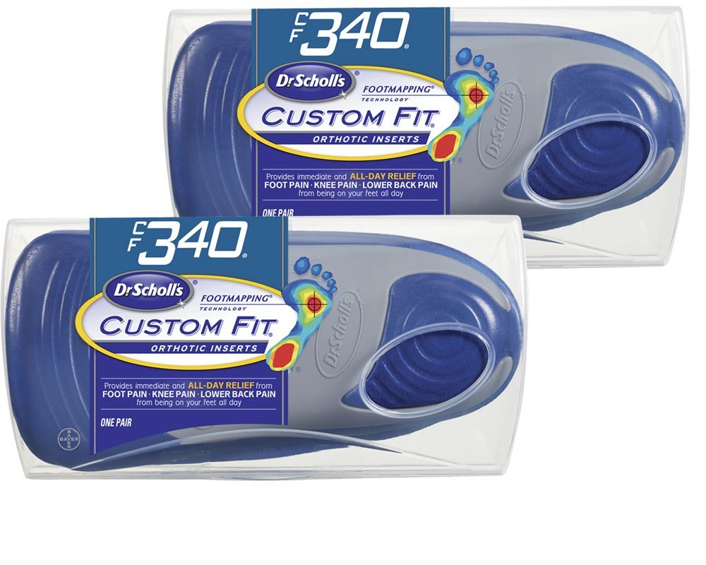 Dr. Scholl's Custom Fit Orthotic Shoe Inserts, CF340, 2-Pair by Bayer Healthcare LLC