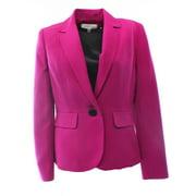 Kasper NEW Purple Magenta Women's Size 6P Petite Single-Button Seamed Blazer $79