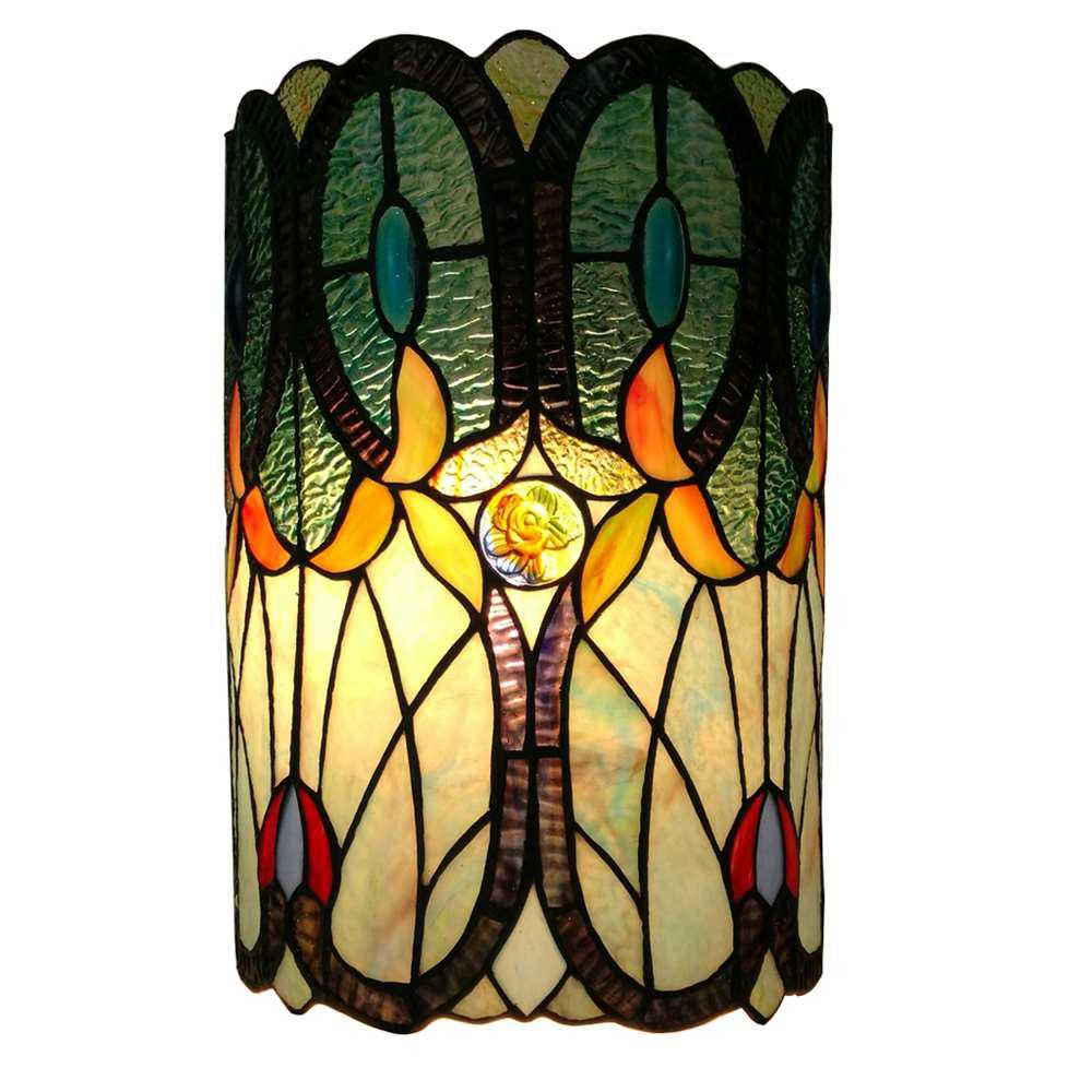 Amora Lighting AM247WL10 Tiffany Style Double-light Floral Wall Sconce 13.5 In High by Amora Lighting