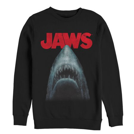 60f3e628071909 Jaws - Jaws Men s Shark Teeth Poster Sweatshirt - Walmart.com