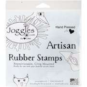 "Joggles Cling Stamp 2.5""X3""-Mickey, Pk 2, Joggles"