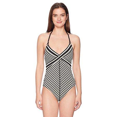 26fcbba232b3 robin-piccone - carmen one-piece stripe swimsuit - Walmart.com