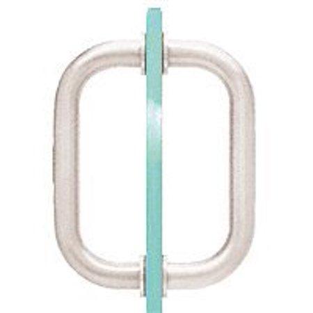 "CRL 6"" Brushed Nickel Tubular Back-to-Back 3/4"" Diameter Shower Door Pull Handles - image 1 de 1"