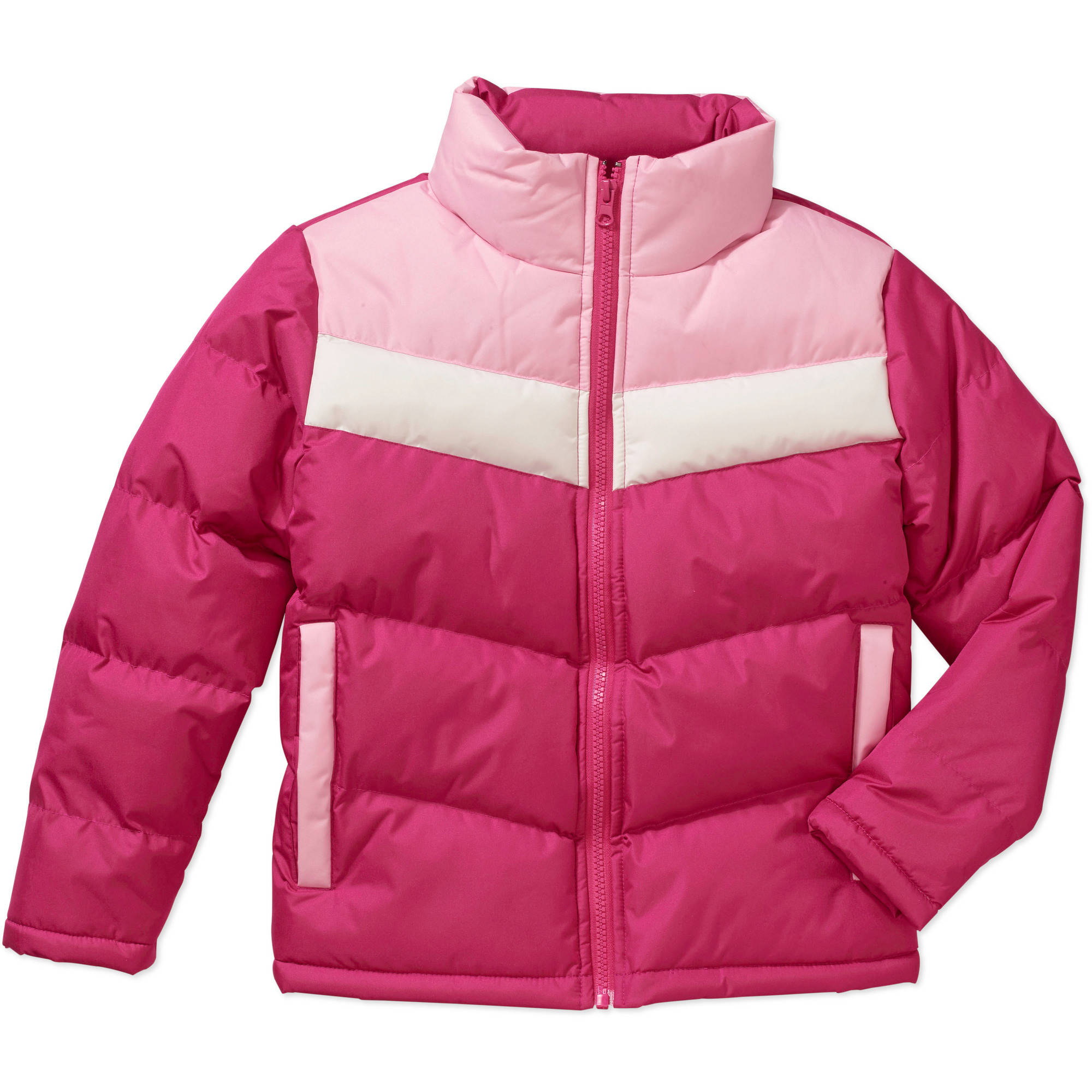 Climate Concepts Girls' Color Blocked Puffer Jacket