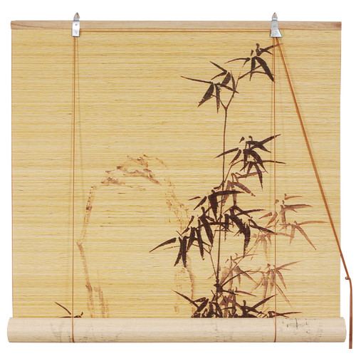 Oriental Furniture Bamboo Design Bamboo Roller Blind