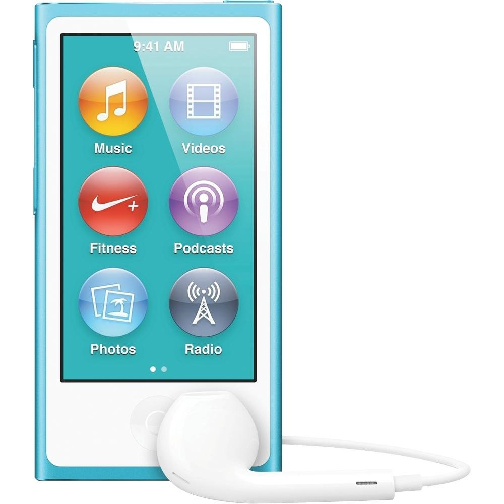 Apple iPod Nano 7th Generation 16GB Blue, Very Good Condition ( MD477LL/A)