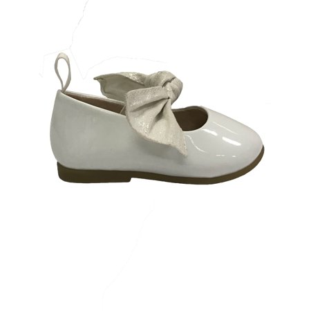Infant White Footwear - Wonder Nation Infant Girls' Bow Dress Flat