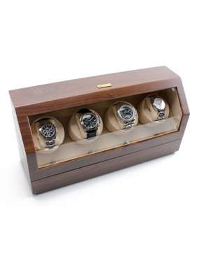 Quad Watch Winder - Walnut