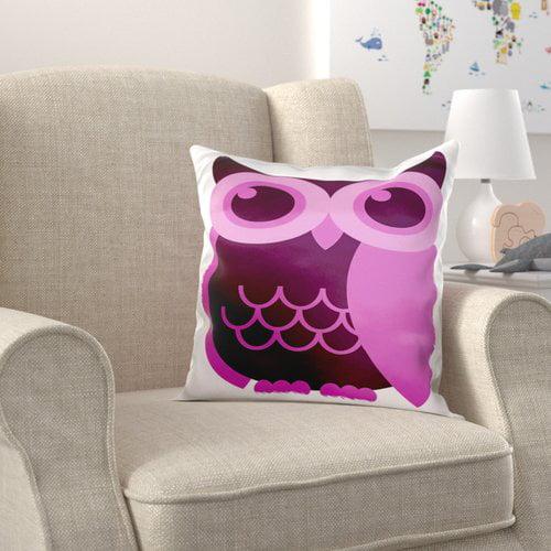 Zoomie Kids Brinkman Light and Dark Owl Pillow Cover