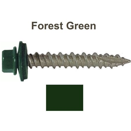 Metal ROOFING SCREWS: ( 250) 10 x 1-1/2