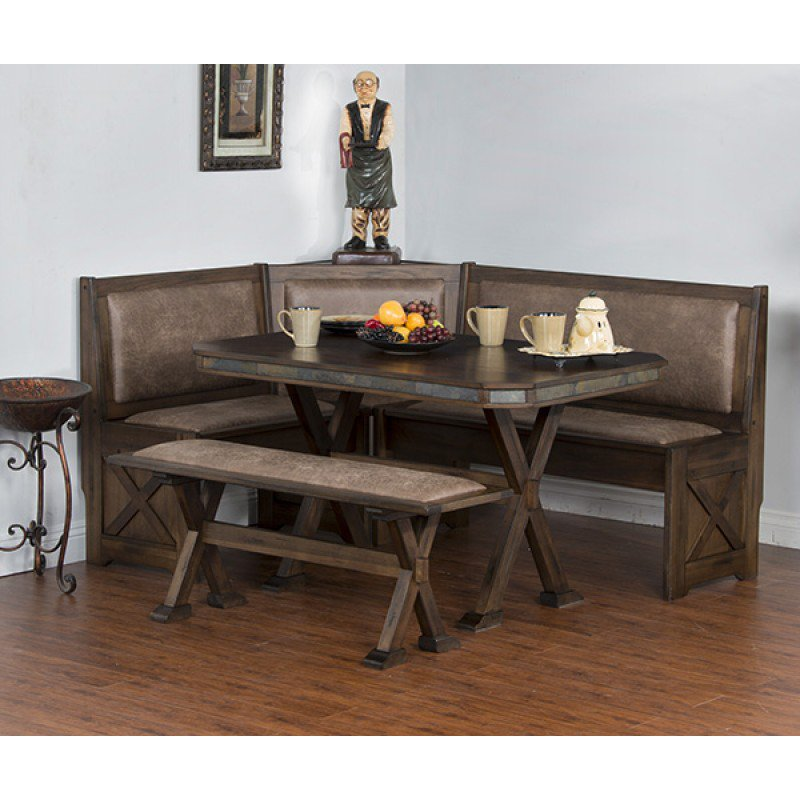 Sunny Designs 0222AC Savannah Breakfast Nook Set W/ Side Bench