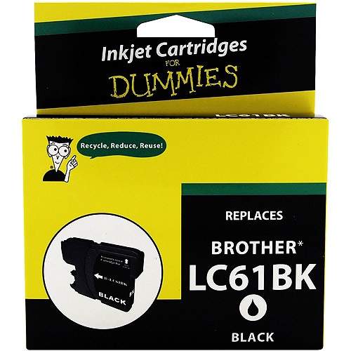 For Dummies Brother LC61 Black Inkjet Print Cartridge, Remanufactured