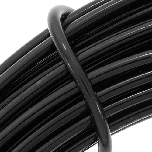 Aluminum Craft Wire Black 12 Gauge 39 Feet (11.8 Meters)