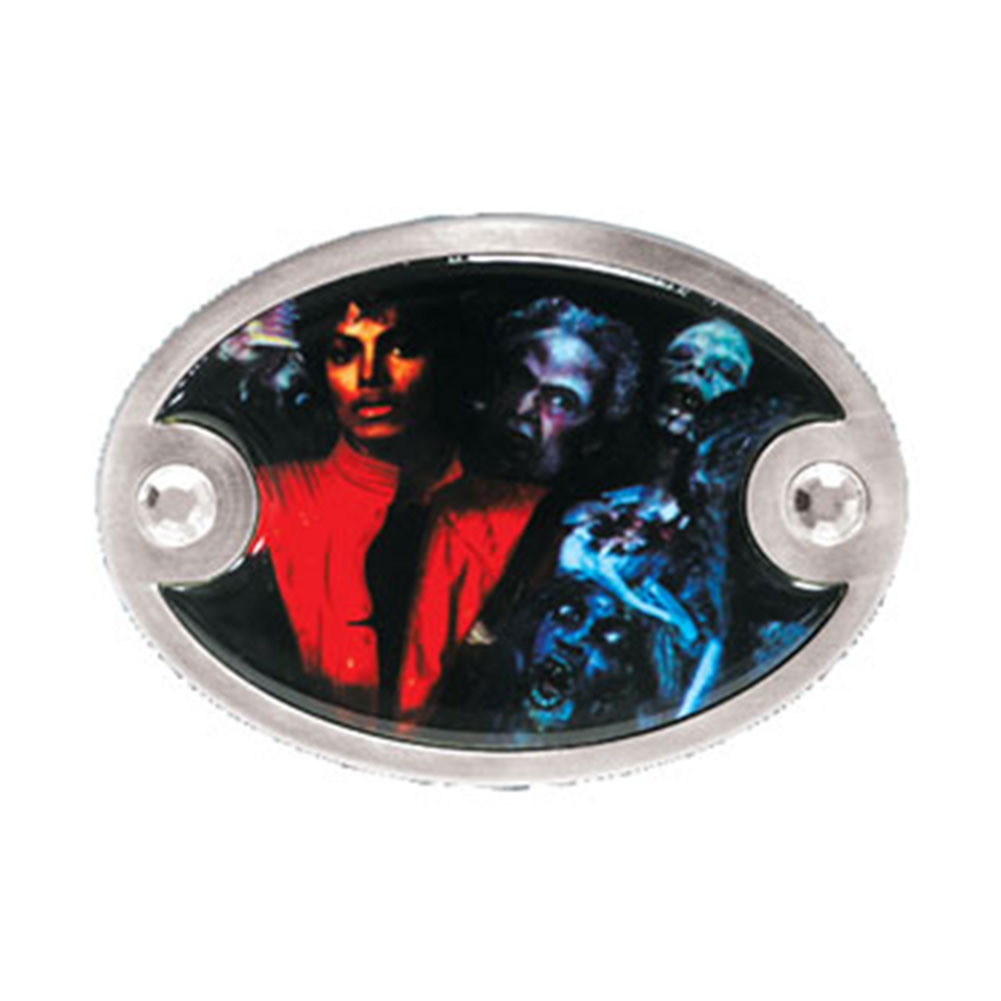 Michael Jackson Men's Thriller Photo Belt Buckle Silver