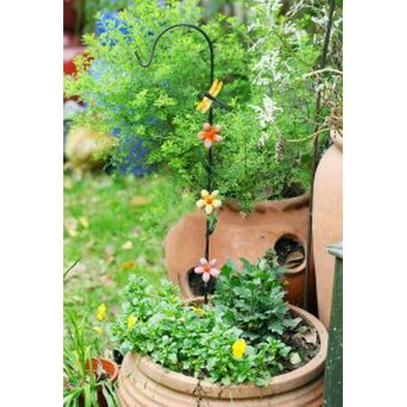 EcoTrellis Garden Decoration Metal Stake Garden Planter Stakes Pergola Butterfly - Butterfly Metal Garden