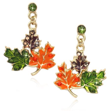 cocojewelry Maple Fall Leaves Dangle Earrings Thanksgiving Halloween - Halloween Earrings Ideas
