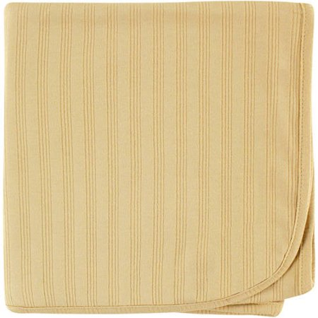 Touched by Nature Baby Boy and Girl Organic Cotton Swaddle Blanket - Tan