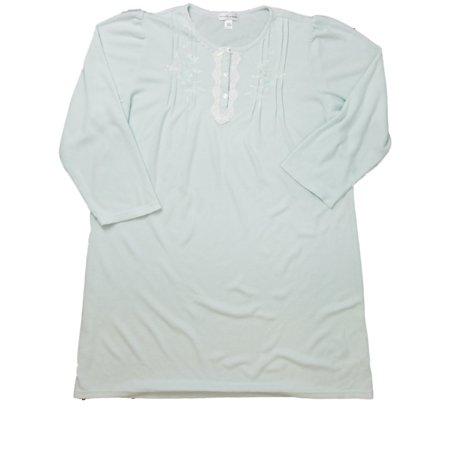 936707f60d477 Womens Light Blue   Gray Rose Flower Nightie Floral Night Gown Sleep Shirt  - Walmart.com