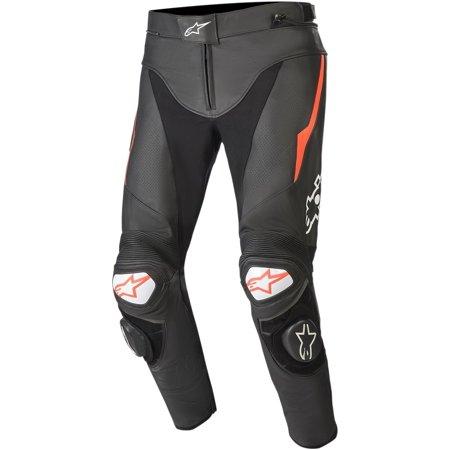 Alpinestars Track V2 Mens Leather Pants Black/Red Alpinestars Track Pants