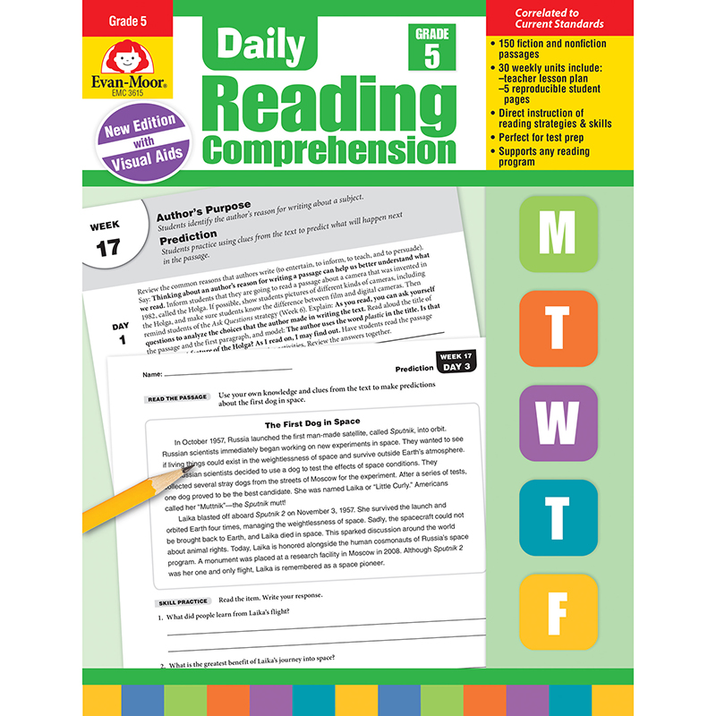 Daily Reading Comprehension: Daily Reading Comprehension, Grade 5 (Paperback)