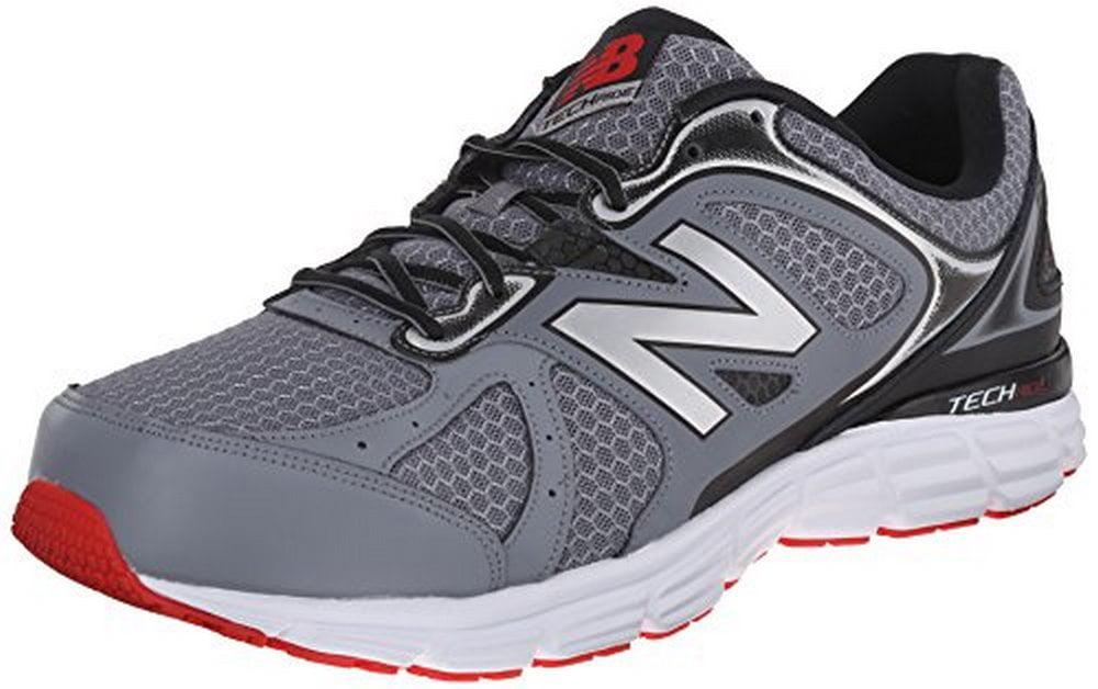 New Balance Mens Running Shoe, Grey Black Red by New Balance