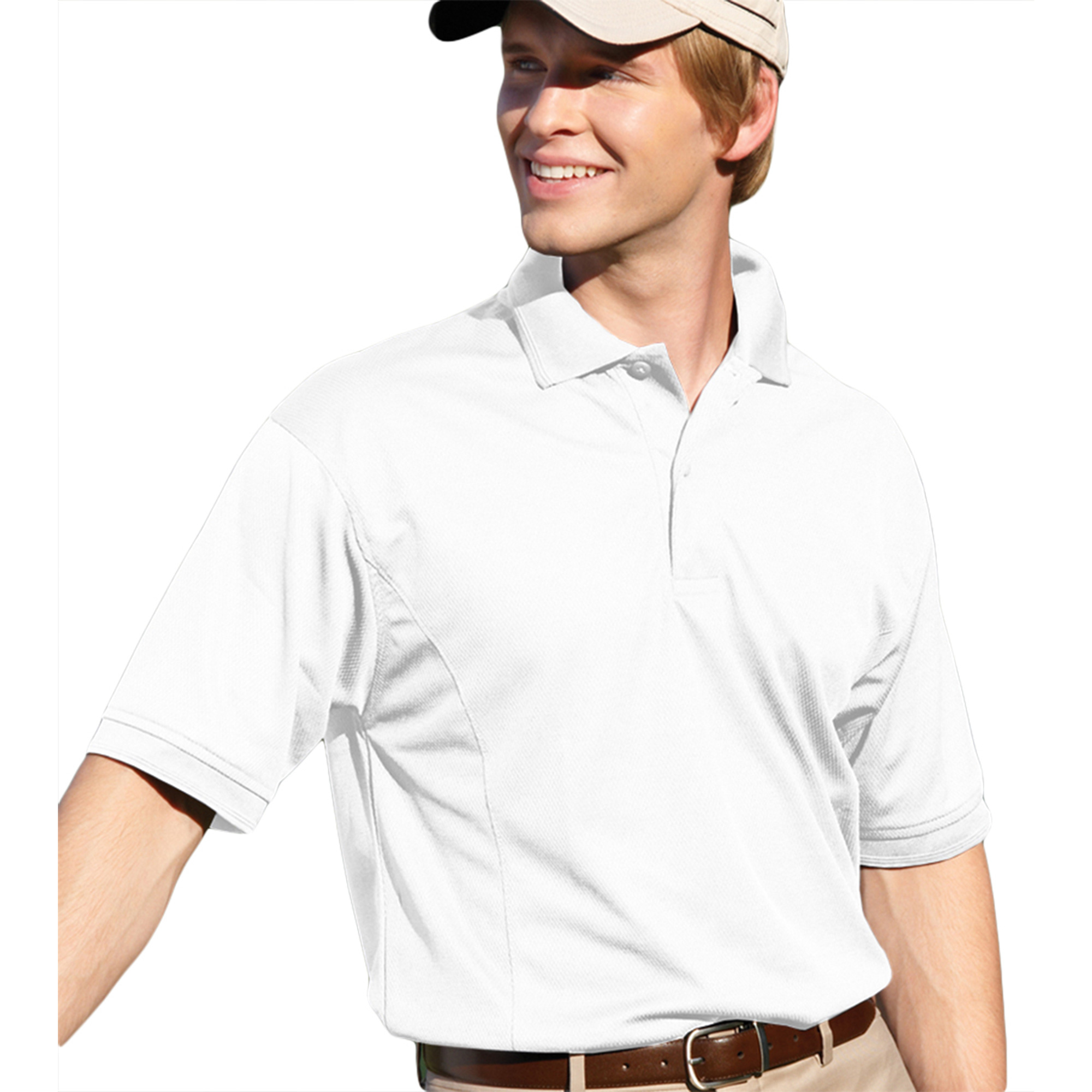 00820599180842 MENS PERFORMANCE GOLF SHIRT 2800 RED XL