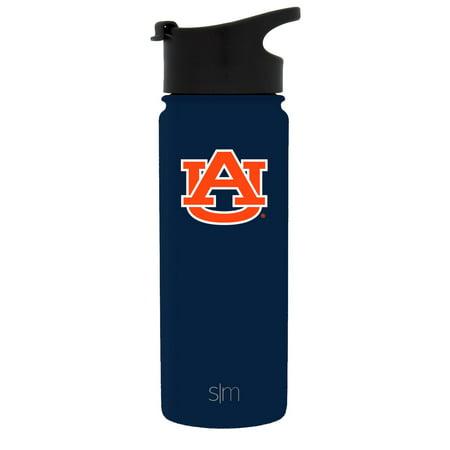 Simple Modern 18oz Summit Water Bottle - Auburn Tigers Vacuum Insulated 18/8 Stainless Steel Travel Mug - Auburn ()