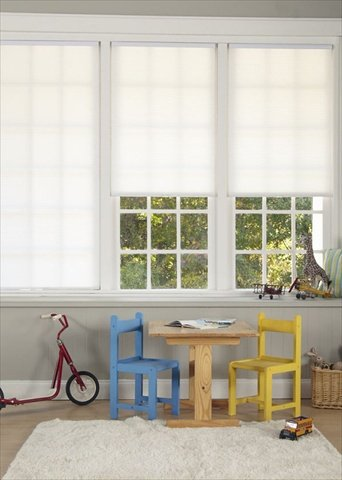 DEZ Furnishings QEWT330720 Cordless Blackout Cellular Shade White 33W x 72L Inches