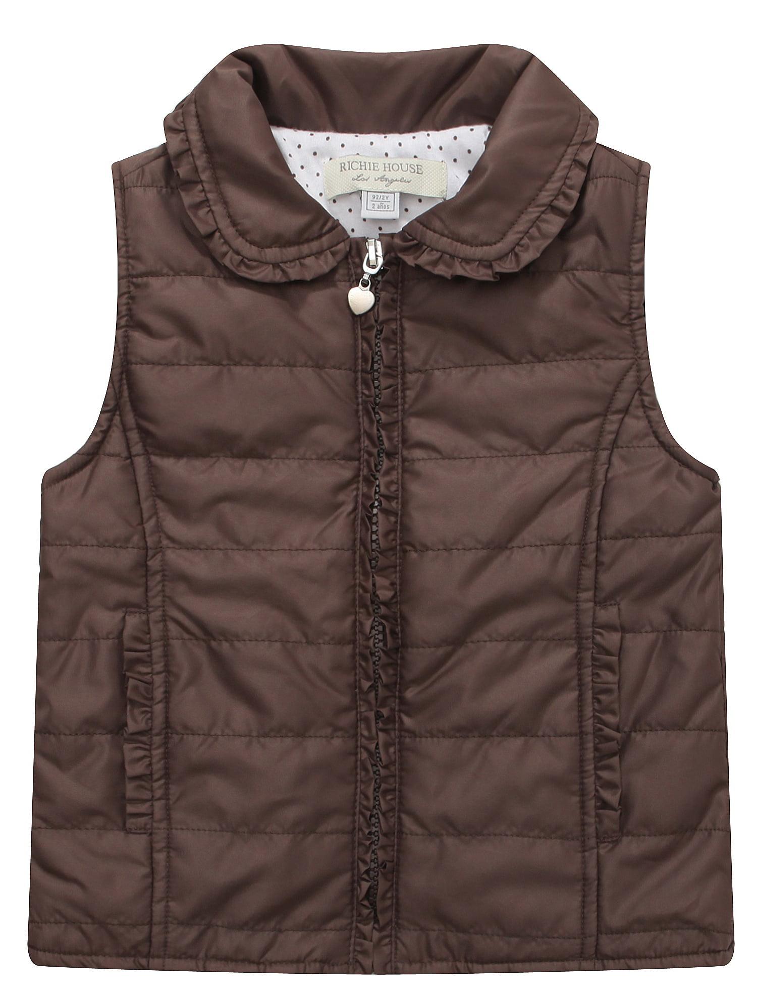 Richie House Girls' Padding Vest RH1348