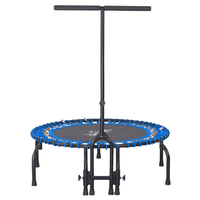 "Airzone 38"" Fitness Bungee Trampoline/ Exercise Rebounder with Removable Pad, Blue"