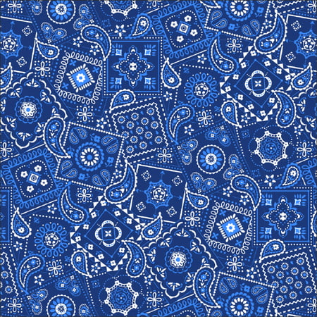 Waverly Inspirations Bandana Ink Lapis Fabric, per Yard