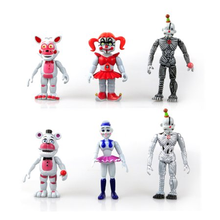 6 Pcs Five Nights At Freddys Foxy Freddy Action Figures Collection Toy