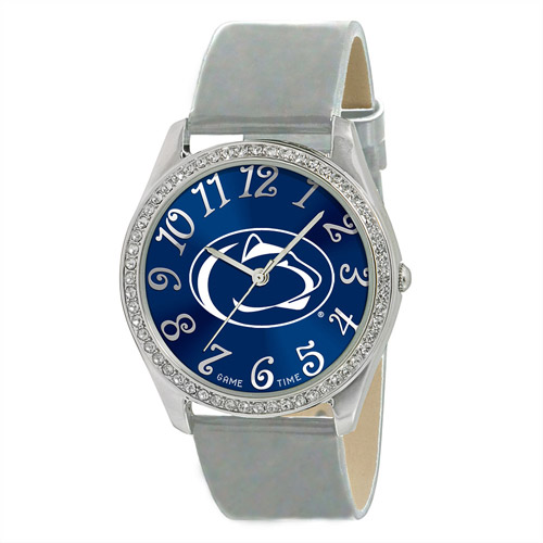 Game Time NCAA Women's Penn State Nittany Lions Glitz Watch, Silver