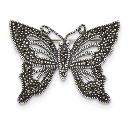 925 Sterling Silver Marcasite Butterfly Pin Gifts For Women For Her