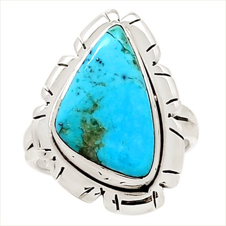 Sleeping Beauty Turquoise 925 Sterling Silver Ring Jewelry s.7 17715R